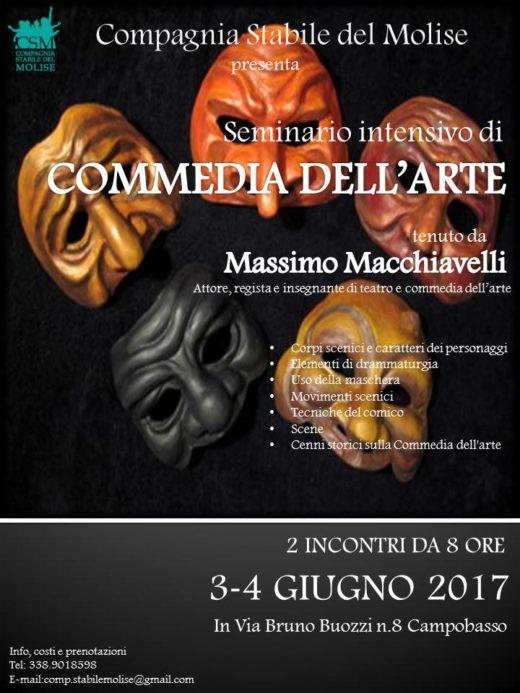 locandina seminario commedia arte